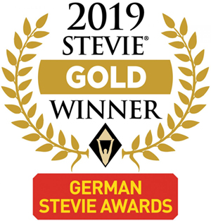 Auszeichnung German Stevie Awards Gold 2019